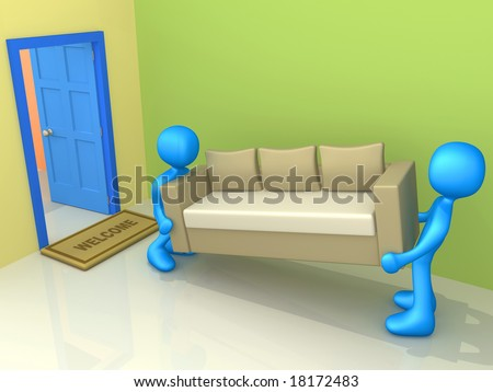 Moving In - stock photo
