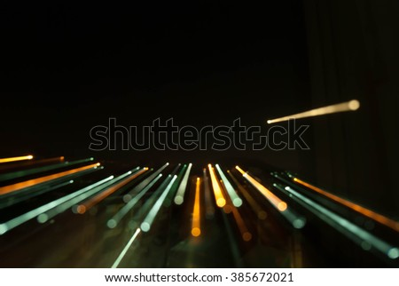 moving light ,long exposture - stock photo