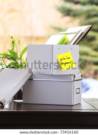 Moving office - stock photo