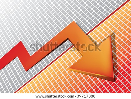 moving red arrow - stock photo
