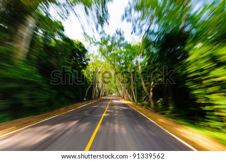Moving Road - stock photo