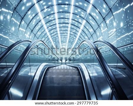 Moving stairs. Metro.  - stock photo