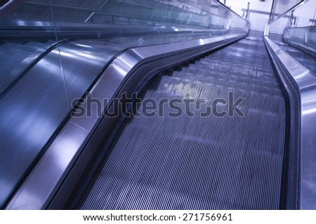 Moving Stairway - stock photo