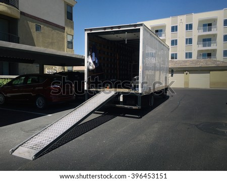 Moving Truck - stock photo