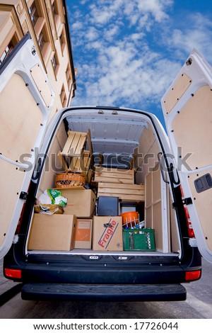 moving van - stock photo