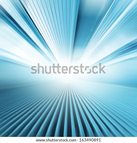 Moving walkway and light on background. - stock photo