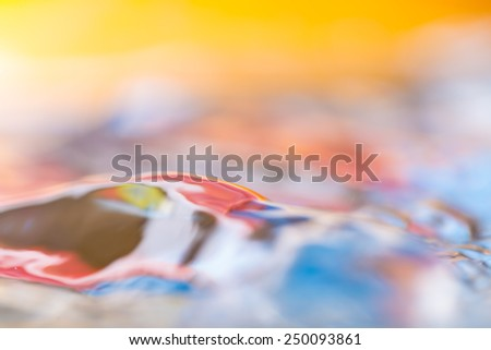 Moving water surface abstraction - stock photo