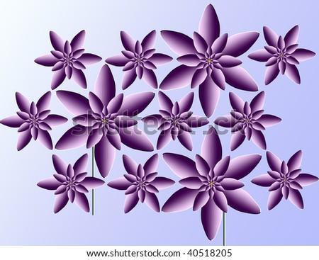 movinging flowerses - stock photo