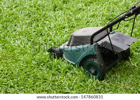 Mower Running in the grass