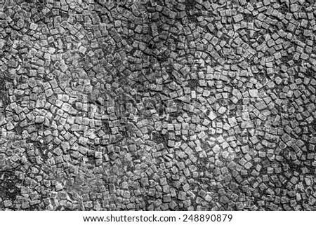 mozaic floor textured back ground image - stock photo
