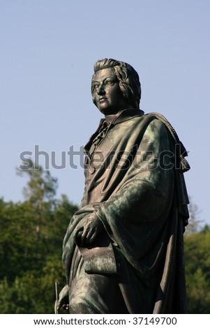 Mozart Statue - Salzburg, Austria - stock photo