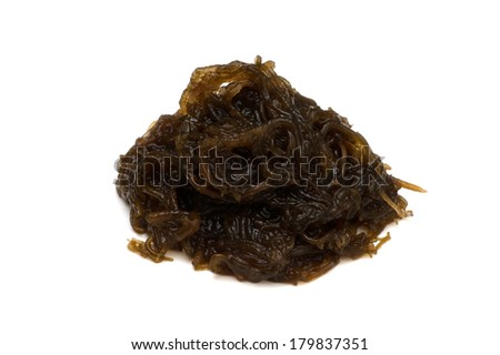 MOZUKU seaweed, This image is available for clipping work.  - stock photo
