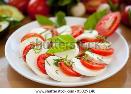 Mozzarella and Tomato 6 - stock photo