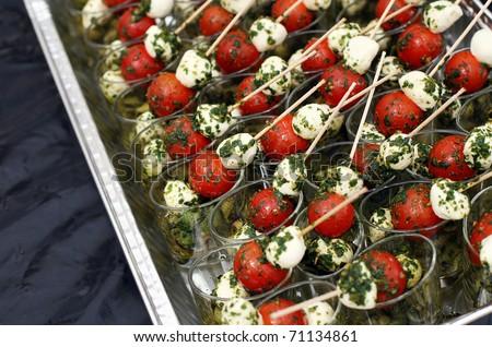 mozzarella and tomatoes - stock photo