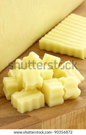 mozzarella cheese block made from fresh milk and used in lots of delicious kinds of Italian recipes that are made daily around the world - stock photo