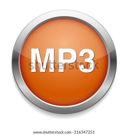 Mp3 download symbol - stock photo