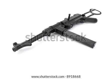 MP40 German  submachine gun - World War II era - stock photo