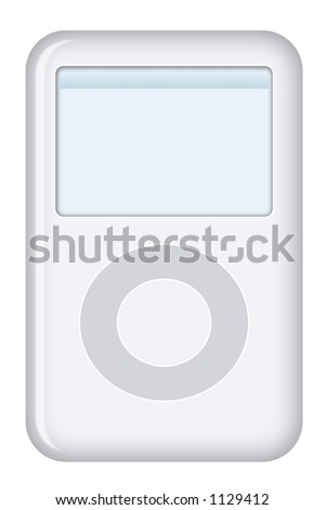MP3 player - stock photo