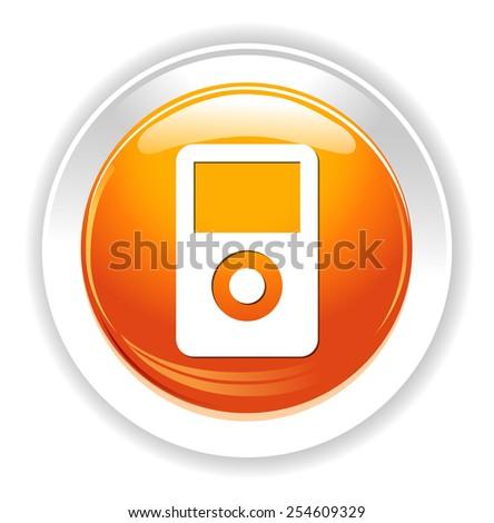 mp3 player icon - stock photo