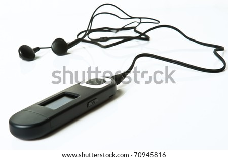 mp3 player  isolated on a white background - stock photo