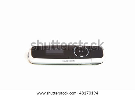 MP3 Player Isolated on White Background - stock photo