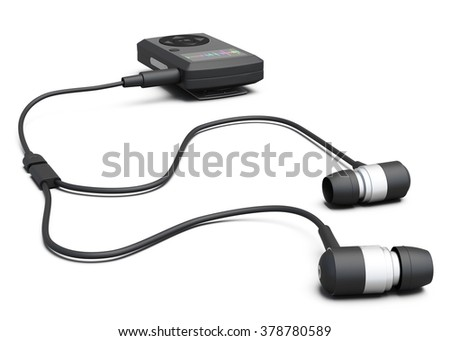 MP3 player isolated on white background. 3d illustration. - stock photo