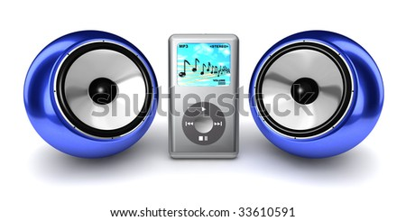 MP3 Player with ball speakers