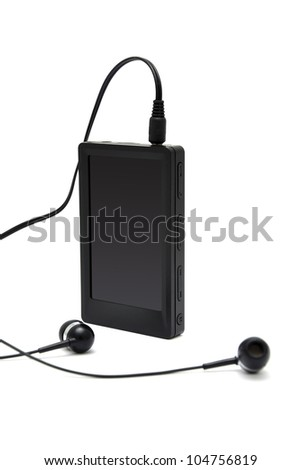 mp4 player with white background - stock photo