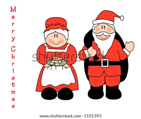 Top Mr Mrs Claus Illustration Stock Illustration 5101393 - Shutterstock JJ56