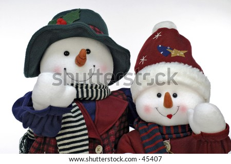 Mr & Mrs Frosty - stock photo