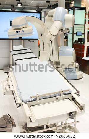MRI machine in the hospital - stock photo