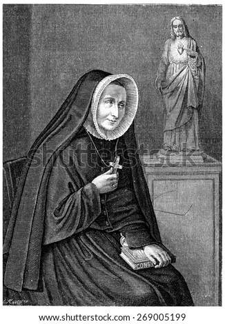 Ms. Barat, vintage engraved illustration.  - stock photo
