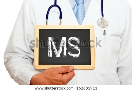 MS - Multiple Sclerosis - stock photo