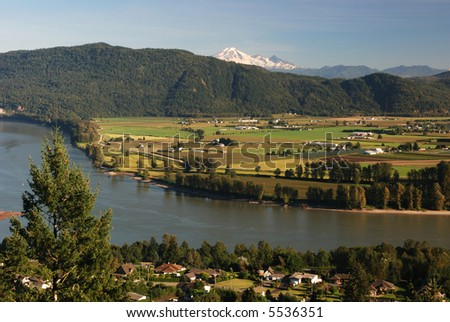 mt. baker and fraser valley - stock photo