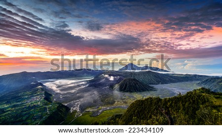 mt. Bromo, East Java, Indonesia - stock photo