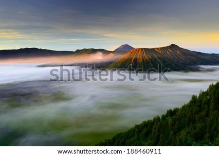 Mt.Bromo,Java,Indonesia - stock photo