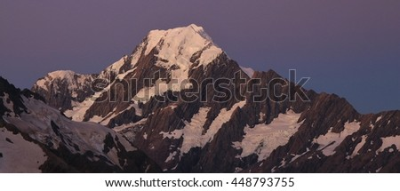 Mt Cook at sunset, New Zealand