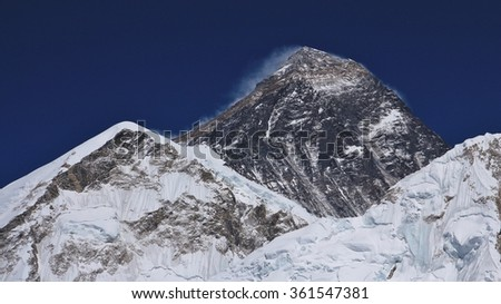Mt Everest in spring time