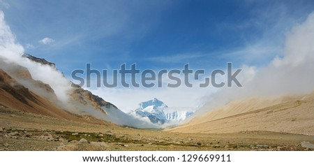 Mt.Everest, the highest mountain in the world