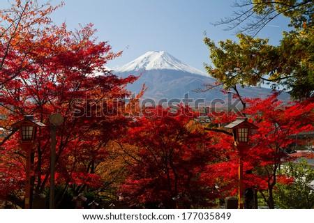 Mt.Fuji in Autumn - stock photo