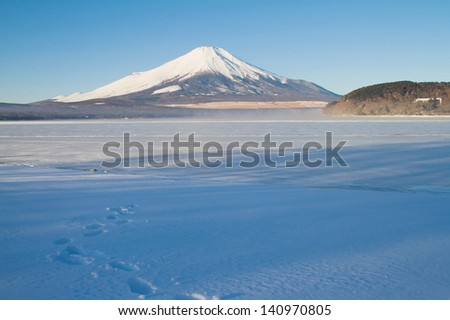 Mt.Fuji in winter - stock photo