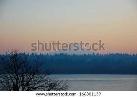 Mt. Hood in Oregon, USA - stock photo