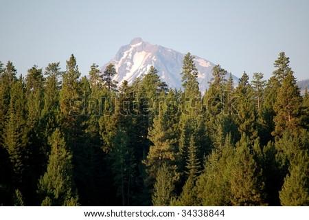 Mt. Jefferson Over Black Butte Ranch - stock photo