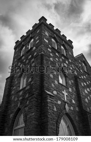 Mt. Jefferson Presbyterian Church - stock photo