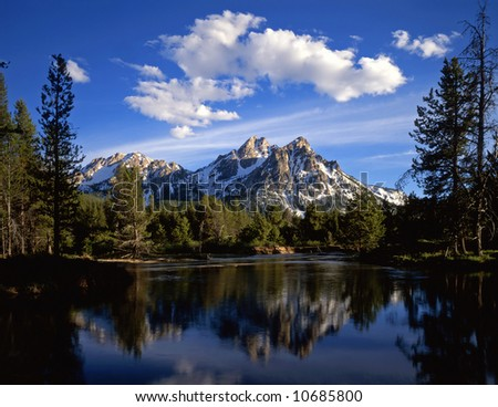 Mt. McGown in the Sawtooth National Forest of Idaho. - stock photo