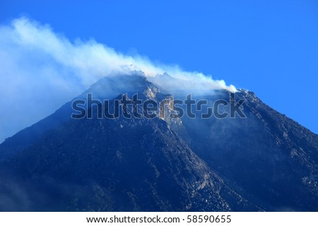 Mt Merapi, java, Indonesia