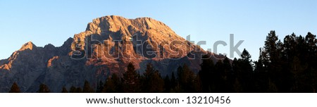Mt. Moran Sunrise, Grand Teton National Park, Wyoming - stock photo