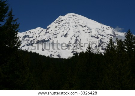 Mt. Rainier - stock photo