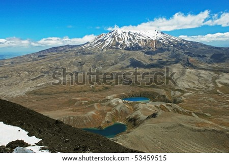 Mt. Ruapehu, Tongariro national park, New Zealand - stock photo