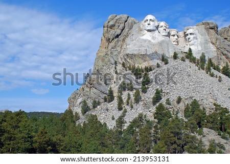 Mt Rushmore 1 - stock photo